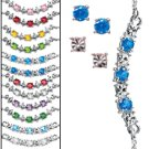 Birthstone Colors Frontal Necklace & Earrings Gift Set -December