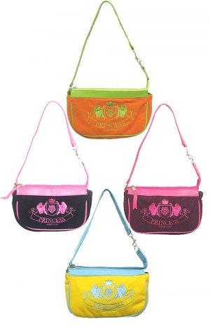 Princess Mini Bag - Yellow With Light Blue Trim Designer Inspired Handbag Purse locationa1