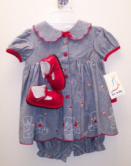 BT Kids 2 pc Ensemble No Shoes Girls Size 3-6 Months NWT 109-117 location9