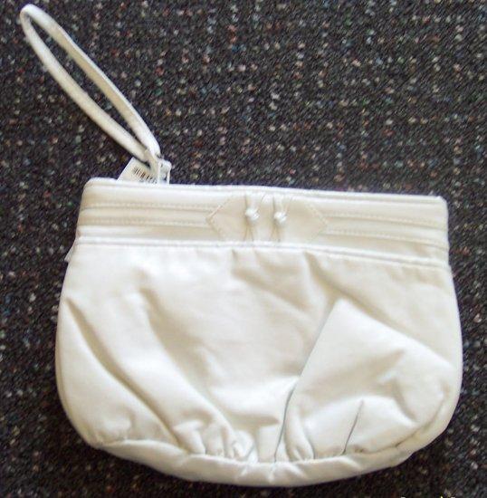 Vintage Purse Clutch Handbag White with Wrist Strap locationa1