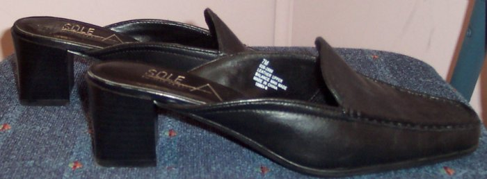 Aerosoles Black Mules Size 7M  All Leather Upper 561-15 Once Is Never Enough