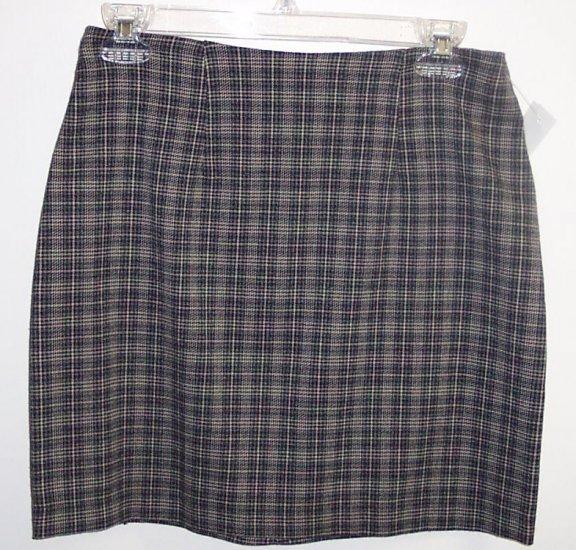 Jonathan Martin Plaid Mini Skirt Size 6 101-1379 locw21