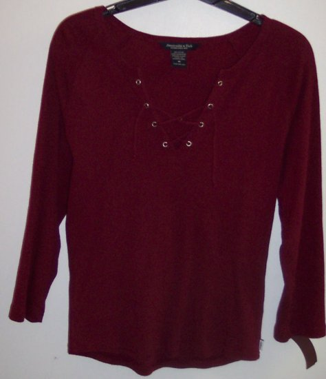Abercrombie & Fitch Layering Long Sleeve Shirt Top Size M 101-08shirt locationw10
