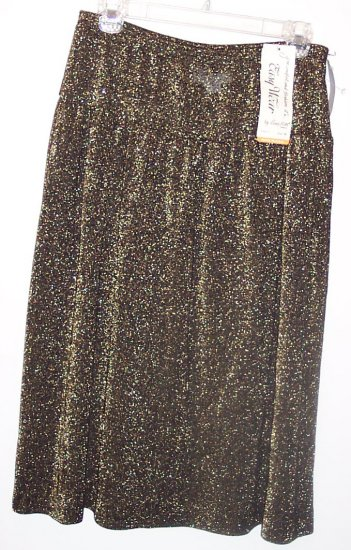 NWT Vintage Easy Wear by Bonne Petite Full Knit Skirt ~ Size 14P 337-26 locw21