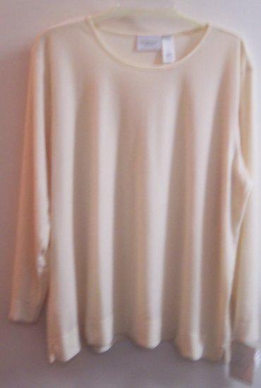 Liz Claiborne Woman Velour Velvet Top Shirt Size 2X XXL 101-1679 Once Is Never Enough