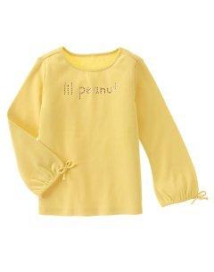 Gymboree NWT Lil Peanut Rhinestone Fun LS Tee Size 5 Yellow Box8
