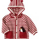 NWT Gymboree Penguin Parade Striped Knit Hoodie Size 3 - 6 Months box11