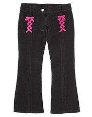 Gymboree NWT Imaginary Friends Black Corduroy Pants with Ribbons Sz 4