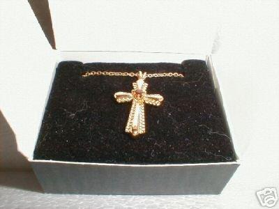 Vintage 1992 Avon Genuine Garnet Necklace Mint In Original Box