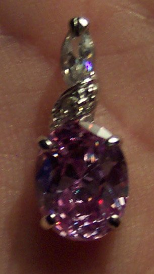 New Swarovski Crystal Non Tarnishing Silver Rhodium Pendant Drop Slide 621-82