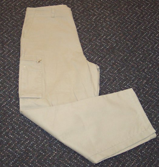 Arizona Khaki Mens Pants Side Zip Pockets 101-h03 Waist 38 Inseam 32 locw19