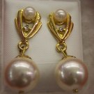 Stunning Like New Vintage Pierced Faux Pearl Earrings 109-287 Costume Jewelry