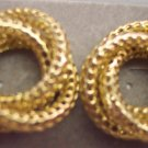 Vintage Lacey Love Knot Pierced Earrings 101-611