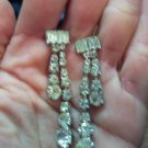 Vintage Rhinestone Pierced Earrings 101-1503 Costume Jewelry