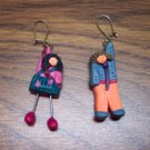 Sweet Polymer Clay School Children Pierced Earrings 101-0015ear Costume Jewelry