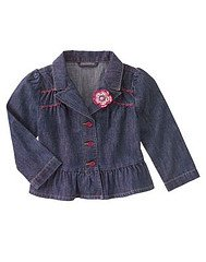 Gymboree NWT Pretty In Plum Denim Jacket Size 7