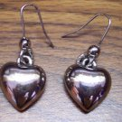 Chunky Vintage Pierced Costume Jewelry HEART EARRINGS 101-0012ear
