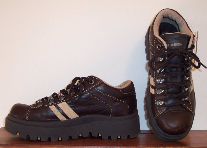 Skechers Brown Casual Shoe Boots Size 7 101-3740