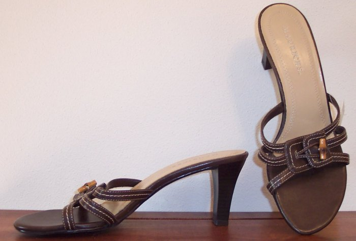 Awesome Maurices Brown Slides Mules Shoes Sandals Size 8 101-4134