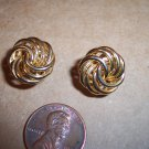 Vintage Swirl Spiral LOVE KNOT PIERCED EARRINGS 101-3804 Costume Jewelry Altered Art