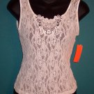 Vintage Cinema Lacey Ivory Camisole Cami Size Small S 101-11b Locationw11