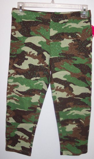 NWT Energie Girls Camoflage Camo Leggings Pants Size XL 16