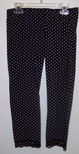 Eyeshadow NWT Girls Size XL 16 Black White Polka Dot Leggings Pants