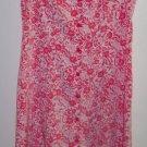 Vintage Expressions Pink Romantic Floral Jumper Dress ~ Size 12 ~ 101-4219h
