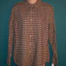 Vintage Eddie Bauer Flannel Cotton Blouse Boyfriend Shirt Top ~ Size M Medium ~ 101-1801