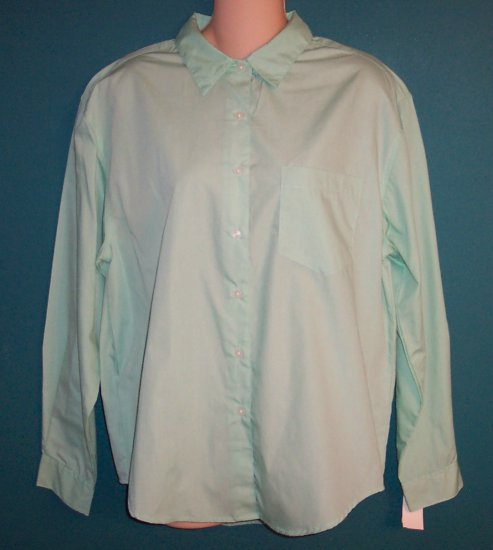 Classic Basic Edition Long Sleeve Blouse Shirt Top ~ Size M Medium To Large ~ 120-190