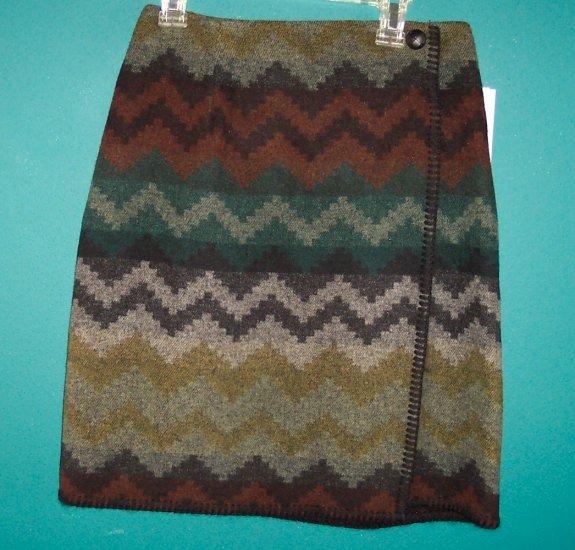 Vintage Paul Harris Wrap Skirt  Olive Southwest Print Size 6 ws-12 location9
