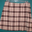 Tracy Evans Brown Beige Plaid School Girl Mini Skirt ~ Junior 5 ~ 101-219