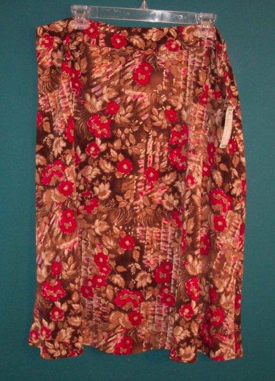 Sag Harbor Elegant Floral Flower Skirt ~ 16 ~ 101-441h location87