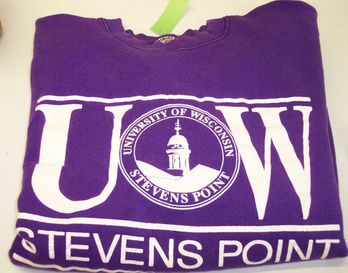 FOTL University of Wisconsin Stevens Point Purple Sweatshirt  ~ XL ~ Excellent Condition ~ 229-41