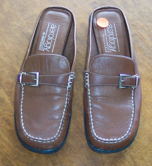 Aerology by Aerosoles ~ Womens Mules Slides Casual Shoes ~ 6.5 M 6 1/2 ~ 101-5018