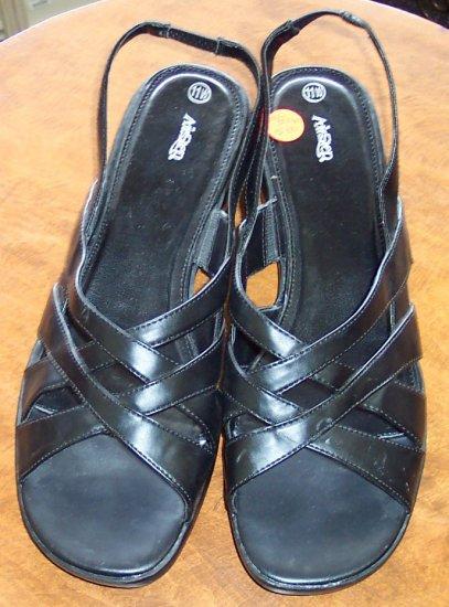 Airstep Black CrissCross Womens Women's Sandals ~ Shoes ~ 11 W 11 Wide~ 101-5016