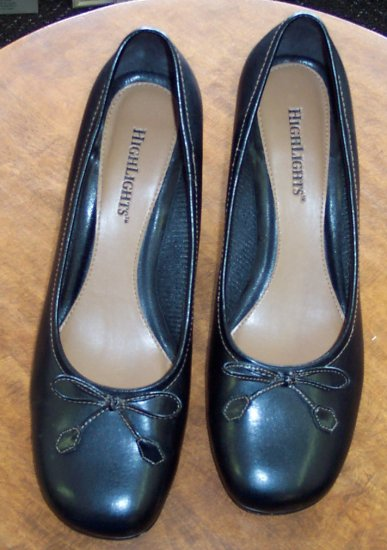 Highlights Black Womens Women's Slides Mules Pumps Shoes 9.5 9 1/2 101-5011 location85