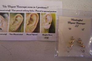 Handcrafted Elegant Earwraps EAR WRAPS Gold Swirls 101-06h Original Card LocationD1
