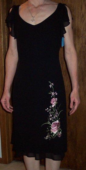 dress barn dressbarn classic black dress size 4 small 118