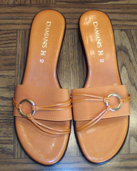 Damiani S Orange Womens Women S Sandals Shoes Made In