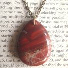 Natural Breciated Jasper Teardrop Pendant Brass Necklace Handmade Vintage Style