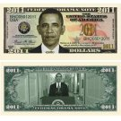 (10) BARACK OBAMA 2011 COMMEMORATIVE NOVELTY DOLLAR BILL