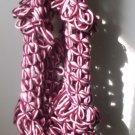 handmade pink and burgundy scarf 100% cotton