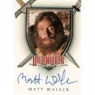Highlander A17 autograph card Matt Walker/Ian MacLeod