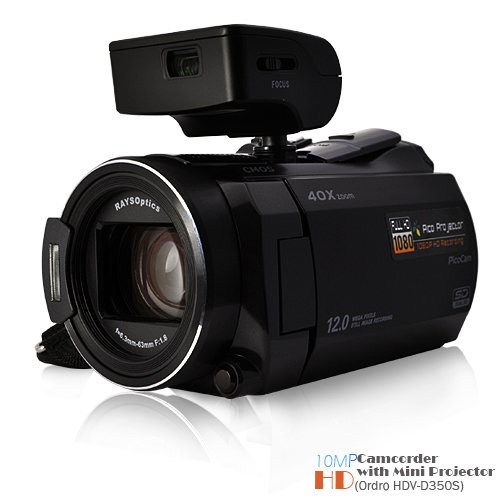 10MP HD Camcorder with Mini Projector