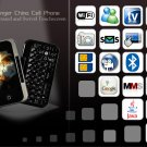 Gunslinger Cell Phone with Keyboard and Swivel Touchscreen