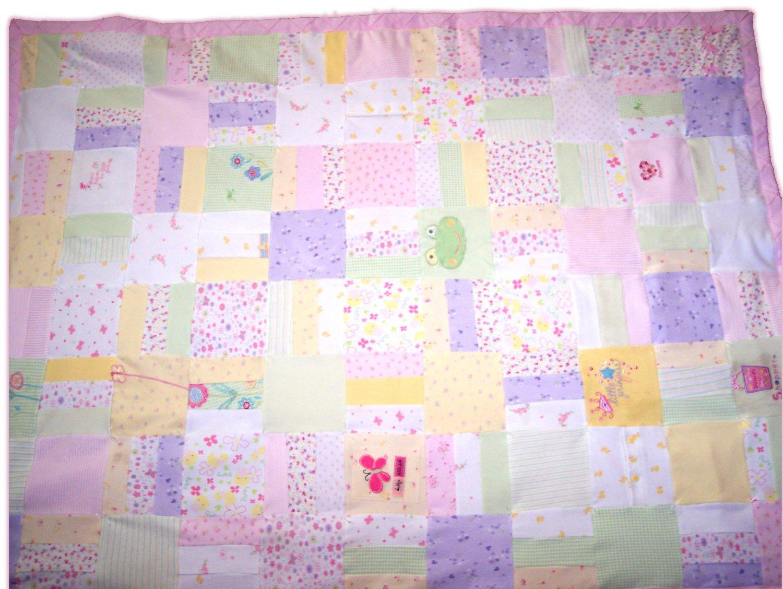 Handmade Little Girls Bedroom Quilt