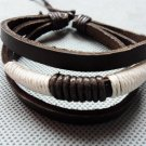 adiustable Real Leather Bracelet with Cotton Ropes 12S