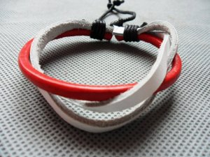adiustable Real Leather Bracelet 13S