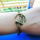 Adjustable Vintage Anchor Bracelet with Chian Cuff Bracelet Chian Bracelet Vintage bracelet 458S